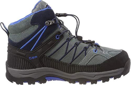 CMP Unisex-Kinder Kids Rigel Mid Shoe Wp Trekking- & Wanderstiefel, Grau (Grey-Zaffiro 52ak), 29 EU
