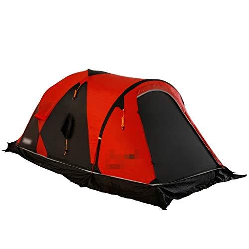 XJH-tunnelzelte Zelt beschichtetes Silikon ultraleicht doppelt doppelt im Freien Schnee Berg Camping Wandern Zelt Winterzelt Einfache und schnelle Einstellung Zelte Familienzelte Bergwald Rucksack Zel