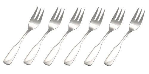 GRÄWE® Kuchengabeln 6 Stück, Serie SPATEN aus Edelstahl