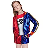 Children's Quinn Cosplay Suicide Squad Costume ( Color : Blue , Size : Medium )