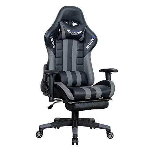 wsbdking Office Gaming Chair, Gamers Armchair Ergonomischer Sitz Moderner Rennwagenstil, Kunstleder (Schwarz)