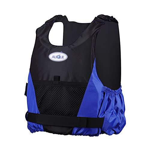 Chaleco de Natación Inflable para Adultos - Mujeres Hombres Chaleco Salvavidas Flotante Ayuda a la Flotabilidad de Seguridad para Principiantes de Deportes Acuáticos para Buce(Size:Grande,Color:Azul)
