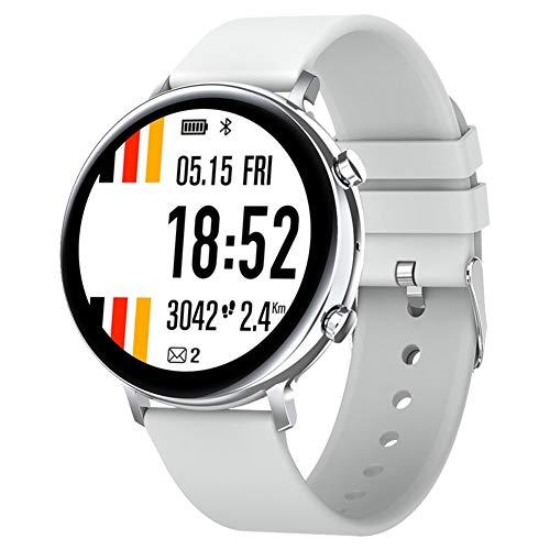 COSCANA Reloj Inteligente Llamada Bluetooth, Rastreador De Ejercicios con Frecuencia Cardíaca, Monitor De Sueño, Pulsera Deportiva Impermeable IP68 para iOS, AndroidSilver