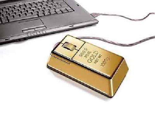 Ratón USB lingote de oro