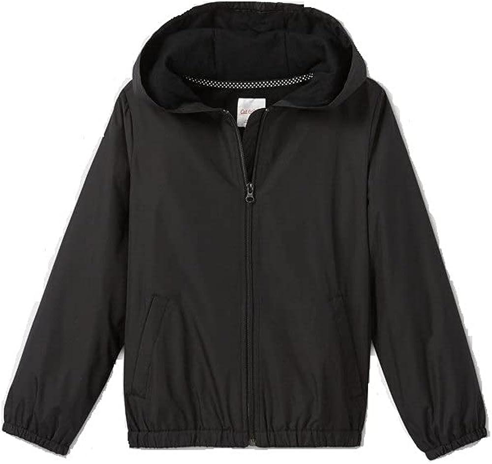 Girls' Uniform Windbreaker Jacket - Cat & Jack Charcoal Gray Size: XS