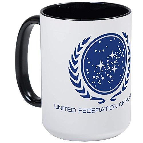NA Star Trek; United Federation of Planets Taza de café Grande, Grande,...