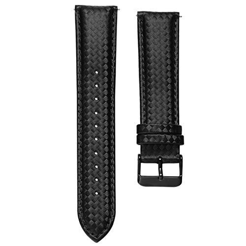 Cuoio della fibra di carbonio nero Cinturino Quick Release 22 millimetri 20mm per ingranaggi S3 S2 Classic Larghezza del cinturino di ricambio, Nero 20mm o S2 Classic