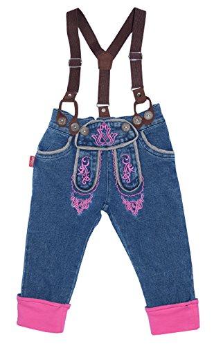 Mogo.cc, LAVARELLA lang, 6-12 Mon, 74/80, M, Jeansoptik, Beinumschlag pink