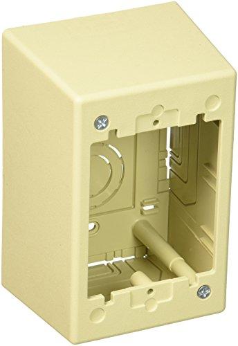 Panduit JBP1DEI 1-Gang Deep Outlet Box, Electric Ivory