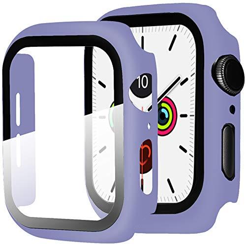 Miimall Funda Compatible con Apple Watch Series 6/5/4/SE 44mm Carcasa Protector Cristal,2...