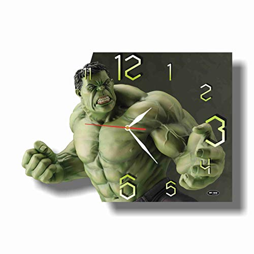 Art time production Hulk 17' x 11' Handmade Wall Clock - Get Unique décor for Home or Office – Best Gift Ideas for Kids, Friends, Parents and Your Soul Mates