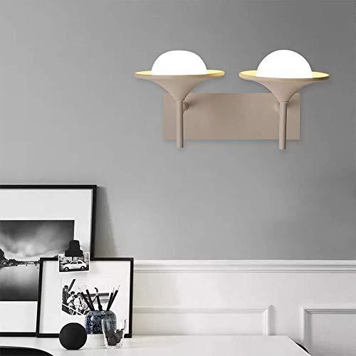 YONGYONGCHONG Lámpara de pared Luz de pared blanca brillante Lámpara de pared de interior Lámpara de pared Led Nórdico Acrílico Personalidad Resalte Luz 28 * 20 (cm) Iluminación