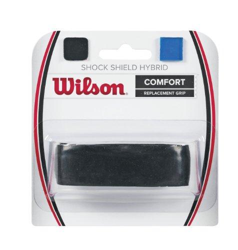 Wilson Shock Shield Hybrid Tennis Racquet Replacement Grip, Black