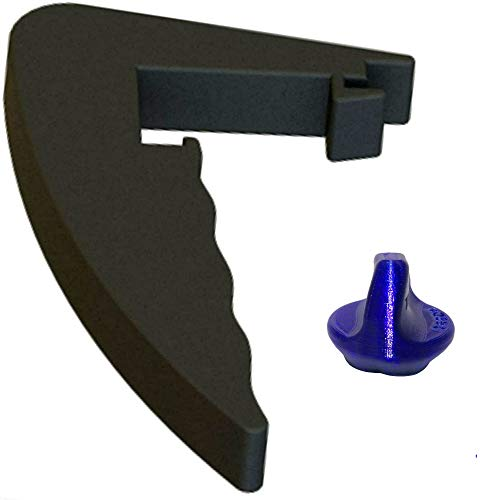 TronicXL - Juego de herramientas de torsión + mango extraíble de repuesto para Lidl Monsieur Cuisine Connect, accesorio negro con flores azules