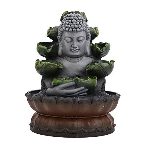 AUNMAS Humidificador de Resina, Mini Escritorio, Fuente, Estatua de Buda, artesanía para decoración de Escritorio en el hogar (Enchufe de la UE 220-240V)