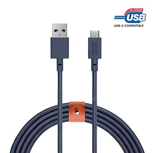 Native Union Cable Belt XL USB-C a USB-A - 3m Ultra-Robusto Reforzado...