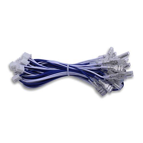 SJ@JX Arcade JST XH 2.54mm 1inch Plug Connectors 0.187'' Terminal Controller Cable Accessories Joystick Button Line LED