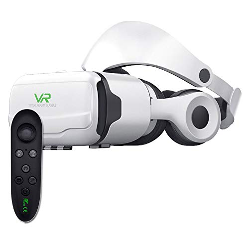 Anti-Blue Light VR Glasses Mobile Phone 3D Intelligent Virtual Reality Headset Glasses One-Click Answer The Phone Private Cinema 3D Game Myopia Can be Used