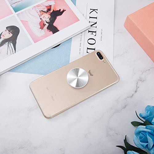 Soporte plegable de grano de mármol gradiente para teléfono móvil para iPhone 11 Pro Max para Huawei para Samsung Grip soporte de contracción (CD Silver)