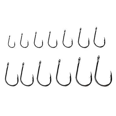 Dr.Fish Set 100pcs Carp/Coarse Fishing Hooks Eye Hooks Barded Super Strength Heavy Shank Terminal Rig Flies Tying #3-#12