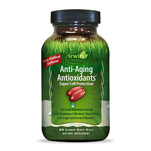 Irwin Naturals AntiAging Antioxidants  Free Radical Defense with Glutathione Grape Seed Extract amp Coffee Berry  60 Liquid Softgels