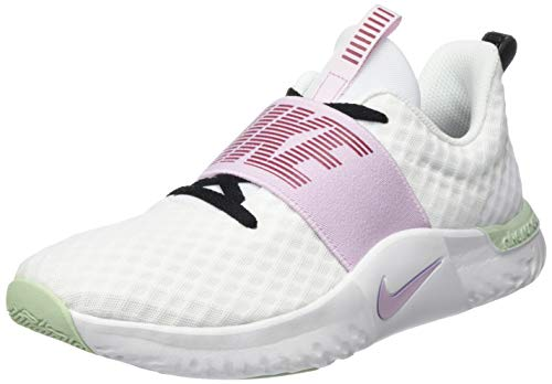 Nike Renew-In-Season 9, Women's Fitness, Weiß (White/Ice Lilac-Black-Noble Orbit 101), 40 EU