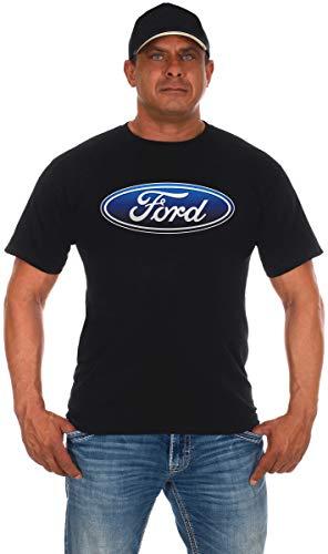 JH DESIGN GROUP Men's Ford T-Shirt Oval Logo Crew Neck Shirt (3X, Black)