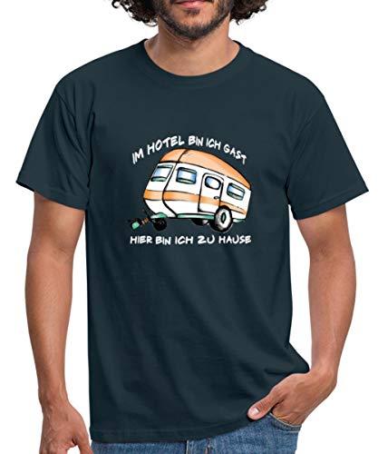 Camping Camper Sprüche Wohnwagen Urlaub Männer T-Shirt, L, Navy