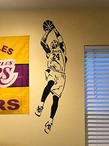 Kobe Bryant Wandaufkleber Vinyl Los Angeles Laker Basketball Wandtattoo