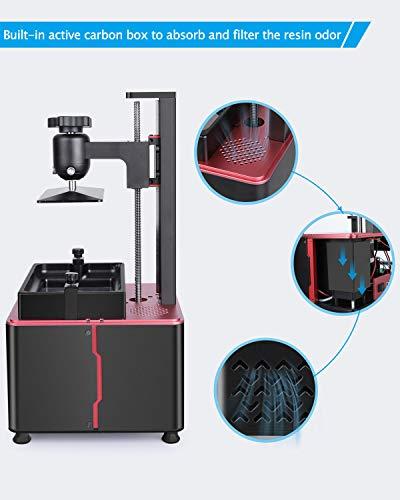 ELEGOO Mars 2 Pro Mono MSLA 3D Printer UV Photocuring LCD Resin 3D Printer with 6.08 inch 2K Monochrome LCD, Printing Size 129x80x160mm/5.1x3.1x6.3inch