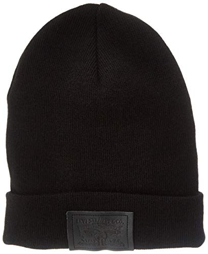 Levi's Levis Footwear and Accessories Herren Two Horse Patch Beanie Strickmütze,...
