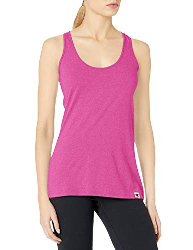 Champion Women's Authentic Originals Triblend Jersey Swing Tank Top, Lotus Pink Heather, Large