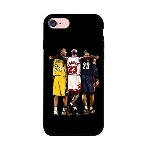 Compatible con Funda para iPhone 7/8 / SE 2020, Tema de Baloncesto Legendario diseñado para Funda de 4,7 Pulgadas para iPhone 7/8 / SE 2020 (Kobe-Jordan-Lebron)