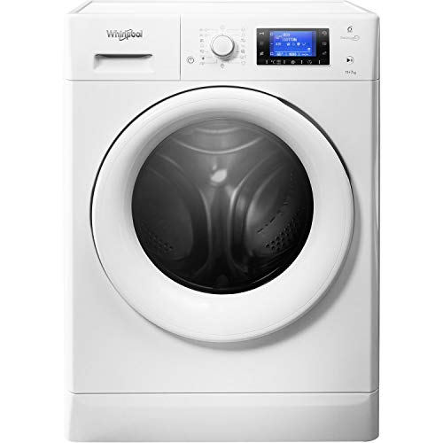 Whirlpool FreshCare FWDD1071681WUK Freestanding Washer Dryer, 10/7kg, 1600rpm, White