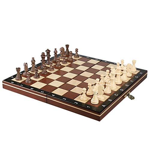 WYDA Chess Folding Chess Set,Standard Chess Game Board Set,Gift for International Chess Lovers/Beginner and Learners Traditional Strategy Game