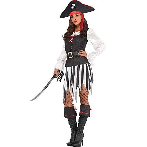 Amscan 841271 High Sea Pirate Costume, Adult Medium Size, 1 Piece