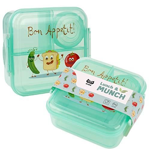 OLWO Lunchbox-Bentobox für Kinder und Erwachsenen, Brotdose für Kindergarten und Schule mit...