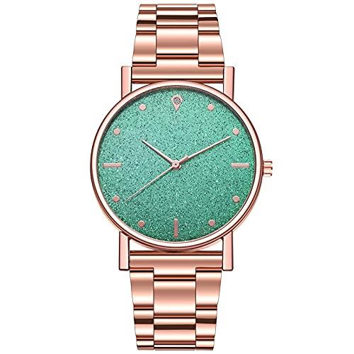 Relojes para mujer, relojes con correa de metal, reloj de cuarzo para mujer, color verde