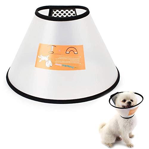 JPYH Cono para Mascotas, Conos de Recuperación para Mascotas,Suave Mascota recuperación Collar plástico Perro Gato Herida Protector Cabeza Cono