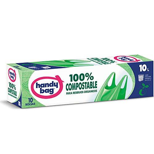 Handy Bag Bolsas de Basura Compostables de 10L, 10 Bolsas