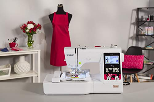 Brother PE550D Embroidery Machine, 125 Built-in Designs including 45 Disney Designs, 4