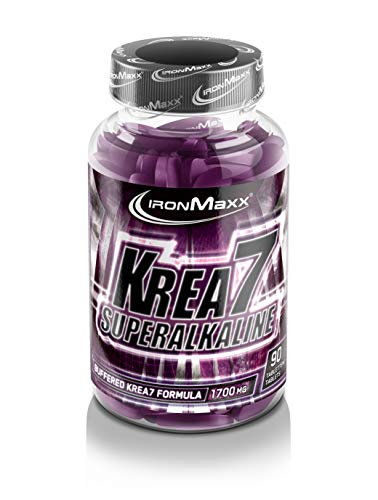 IronMaxx Krea7 Superalkaline Kreatin Tabletten, 90 Tabletten (1er Pack)