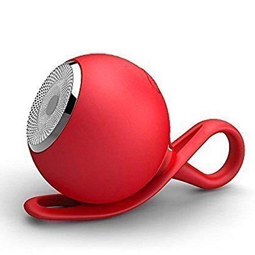 Altavoz Bluetooth impermeable , soporte de tarjeta TF, altavoz portátil para ciclismo de bicicleta de viaje de deportes al aire libre(rojo)