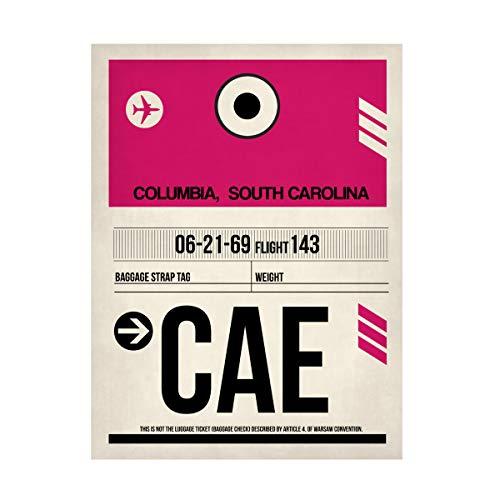 Trademark Fine Art CAE Columbia Luggage Tag I by NAXART, 24x32, Multiple