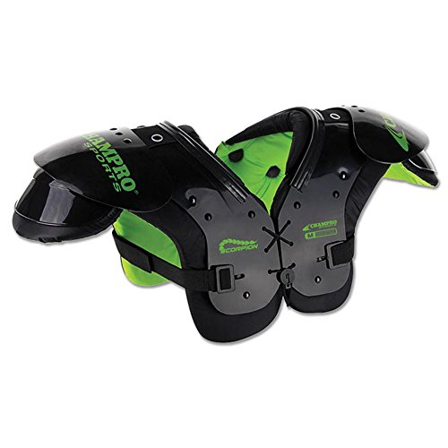 Champo FSP5 Scorpion Shoulder Pad FOOTBALL PADS CH Green 40-60 LBS