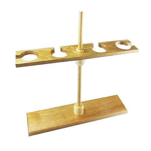 Tansoole 4 Löcher Trichterständer Scheidetrichter Holzständer für 250ml Scheidetrichter