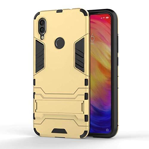 COWEN für Huawei P Smart Z Hülle,Rugged PU+PC Hybrid Armor Schutzhülle,Handykasten Schroffes Shockproof Anti-Wrestling für Huawei P Smart Z Smartphone-Gold