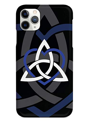 Inspired Cases - 3D Textured iPhone 12 Pro Case - Rubber Bumper Cover - Protective Phone Case for Apple iPhone 12 Pro - Celtic Sisters Knot - Blue - Black