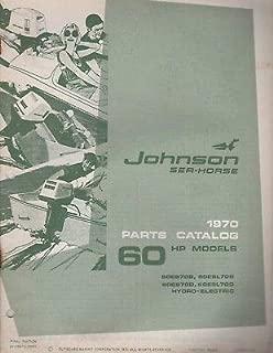 1970 JOHNSON SEA-HORSE OUTBOARD 60 HP PARTS MANUAL P/N 384402 (255)