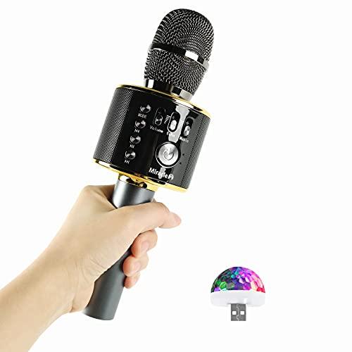 M37 - Karaoke Microphone with Bluetooth - Bluetooth Microphone Wireless - Wireless Microphone for Karaoke - Microphone for Kids - Carpool car Microphone with Speaker - Karaoke mic